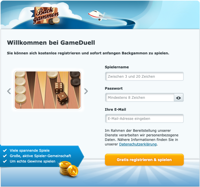 Gameduell Registrierung