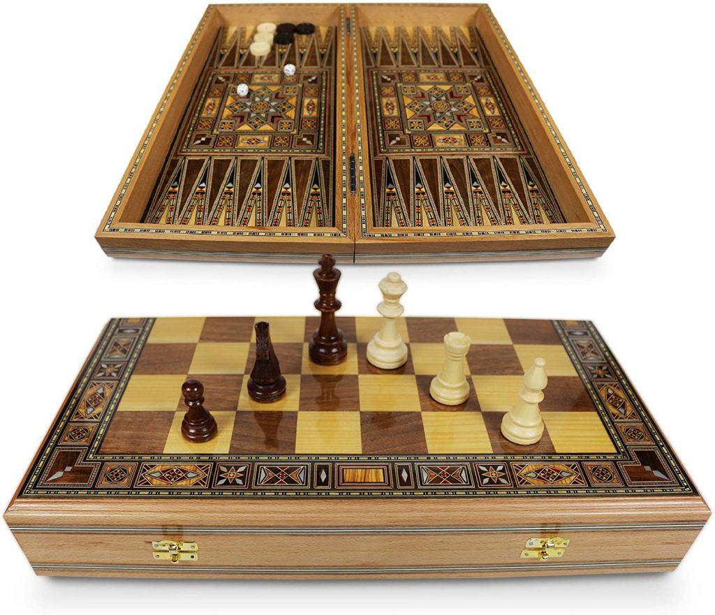 Elessar Premium Backgammon mit Schach